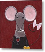 The Socialite  Metal Print by Christy Beckwith