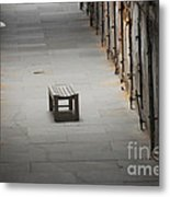 The Solitary Seat Metal Print