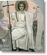 The Son Of God   The Word Of God Metal Print by Victor Mikhailovich Vasnetsov
