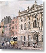 The South Front Of Ironmongers Hall, From R. Ackermanns Repository Of Arts 1811 Colour Litho Metal Print