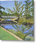 The South Nation River At Spencerville Historic Mill Metal Print