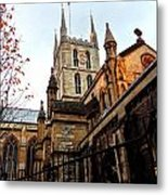 The Southwark Cathedral Church London In Winter Metal Print
