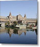 The Spanish Square In Seville Metal Print
