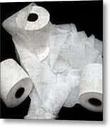 The Spare Rolls 3 - Toilet Paper - Bathroom Design - Restroom - Powder Room Metal Print