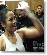 The Speed Of Woman's Boxing Champion Ana Julaton Metal Print