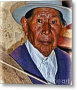 The Spinning Maestro Metal Print