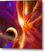 The Spirit Realm Of The Saphire Nebula Metal Print