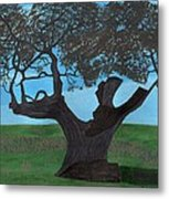 The Split Tree - Bradgate Park Metal Print by Bav Patel