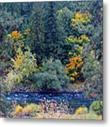 The Spokane River In The Fall Colors Metal Print