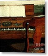 The Square Piano Metal Print