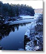 The St. Croix River In December Metal Print
