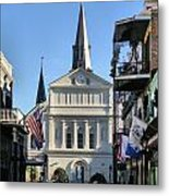 The St. Louis Cathedral Metal Print