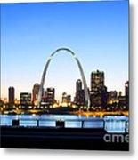The St. Louis Skyline Metal Print