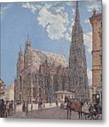 The St Stephen's Cathedral In Vienna Metal Print