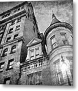 The Stafford Hotel - Grayscale Metal Print