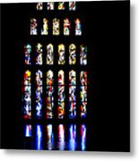 The Stained Glass Windows Of Mary's Church In Nazareth Metal Print