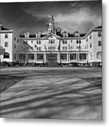 The Stanley Hotel Bw Metal Print