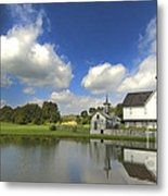 The Star Barn After The Storm Metal Print