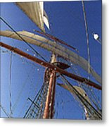 The Star Of India. Mast And Sails Metal Print