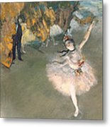 The Star Or Dancer On The Stage Metal Print