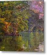 The Stars Give Way To The Sun Metal Print by J Larry Walker