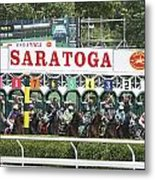 The Start At Saratoga Metal Print