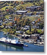 The State Of Maine At The Pier Of Maine Metal Print