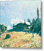 The Station At Sevres Metal Print by Alfred Sisley