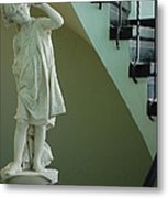 The Statue In The Stairway Metal Print