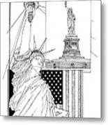 The Statue Of Liberty Metal Print