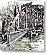 The Steam Shovel Metal Print