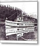 The Steamer Virginia V Metal Print