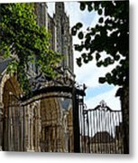 The Steeple And The Gate Metal Print