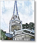 The Steeple Metal Print