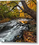 The Still River Square Metal Print by Bill Wakeley