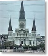 The St.louis Cathedral Metal Print