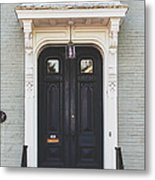 The Stockade Door In Schenectady New York Metal Print by Lisa Russo