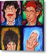The Rolling Stones Metal Print by Dan Haraga
