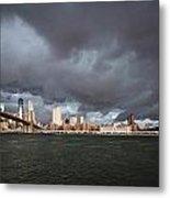 The Storm Over Manhattan Metal Print