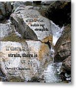 The Strain Of Life... - Yosemite Metal Print