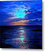 The Stream Of Night Metal Print by Q's House of Art ArtandFinePhotography