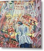 The Street Enters The House Metal Print by Umberto Boccioni