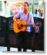 The Street Performer On Market Street - 5d20725 Metal Print
