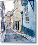 The Streets Of Old Quebec City Metal Print