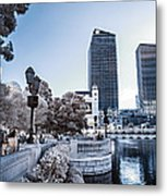 The Strip In Infrared Metal Print