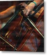 The Stroke Of The Cellist Metal Print