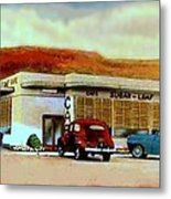 The Sugar Loaf Cafe In St. George Ut In The 40's Metal Print