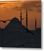The Suleymaniye Mosque At Sunset Metal Print