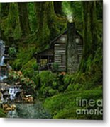 The Summer Cottage Metal Print