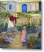 The Summer Garden Metal Print